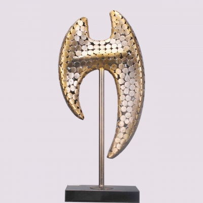 pubic stand metal art sculpture