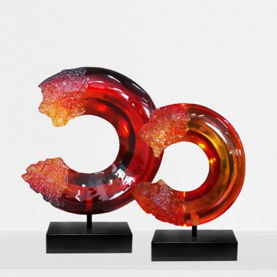classical clear resin sculpture