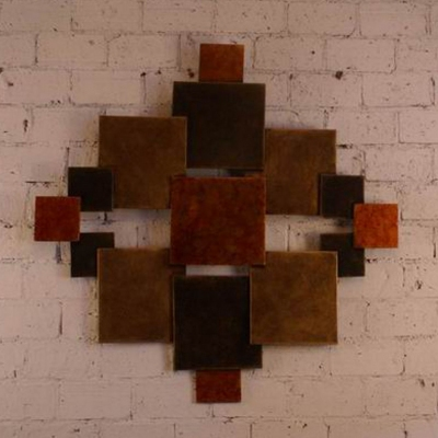 metal ancient wall art sculpture for private clubs