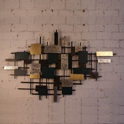 metal architectural wall art decoration for five-star hotels