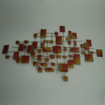 metal cubist wall art sculpture for private clubs